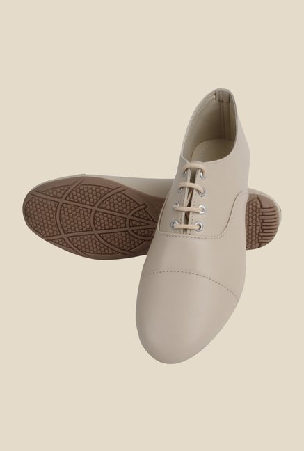 Niremo Cream Oxford Shoes