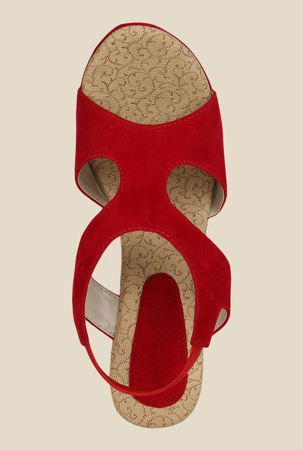 Niremo Red Sling Back Wedges
