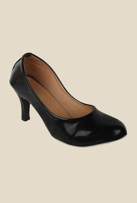 Niremo Black Stiletto Heeled Pumps