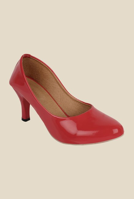 Niremo Red Stiletto Heeled Pumps