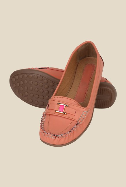 Niremo Peach Casual Loafers