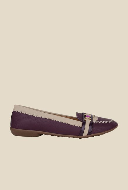 Niremo Purple & Beige Loafers