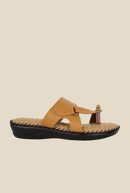 Niremo Beige Toe Ring Sandals