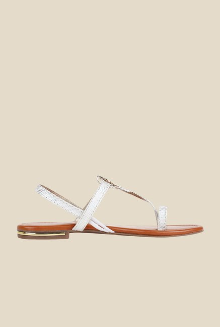 Niremo White Sling Back Sandals