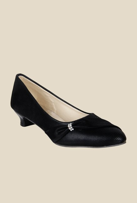 Niremo Black Kitten Heel Pumps