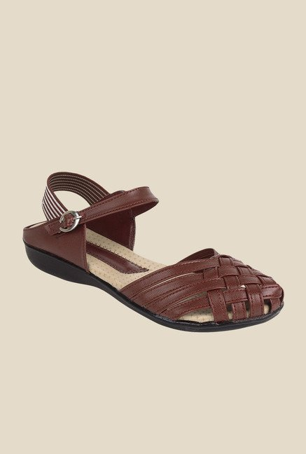Niremo Brown Ankle Strap Sandals