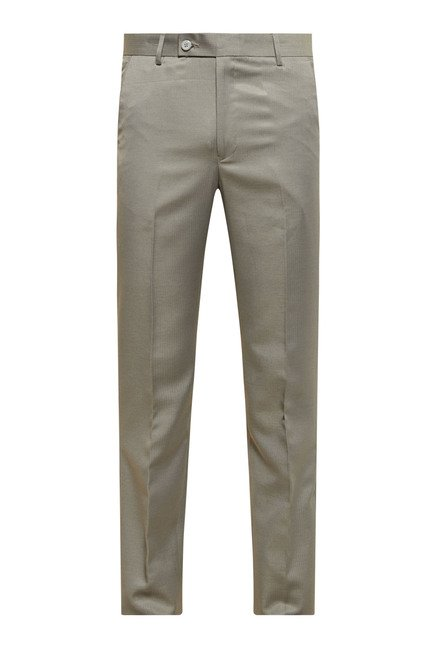 Zudio Beige Textured Trouser
