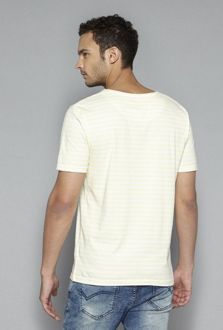 Nuon by Westside Yellow Striped T Shirt