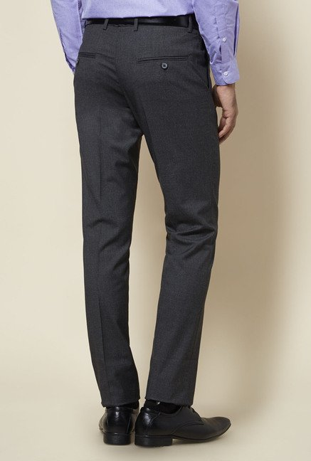 Zudio Grey Textured Trouser