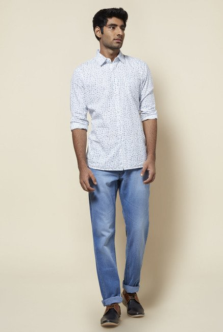 Zudio Light Blue Slim Fit Jeans