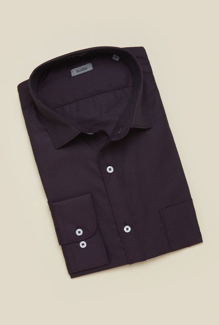 Zudio Brown Solid Shirt