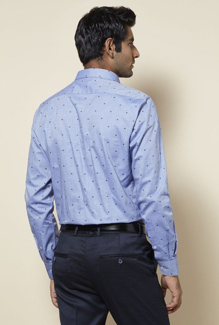 Zudio Blue Printed Shirt