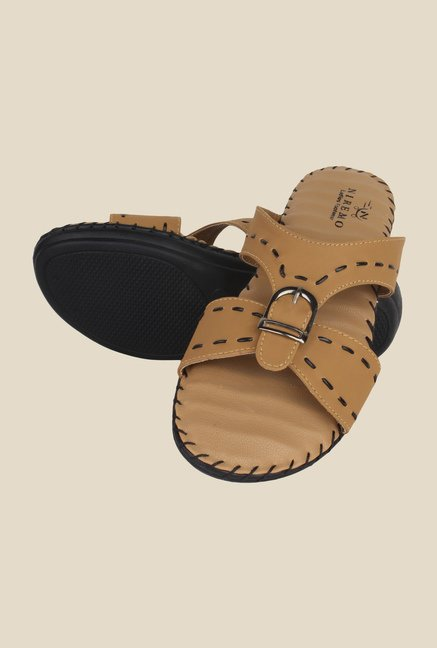 Niremo Tan Flat Sandals