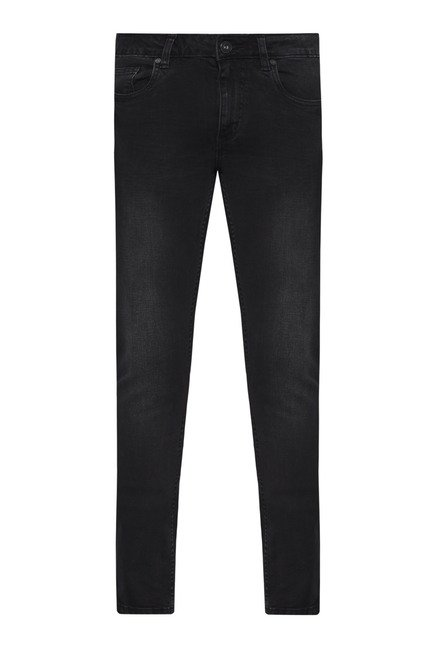 Nuon by Westside Black Skinny Fit Rocker Jeans