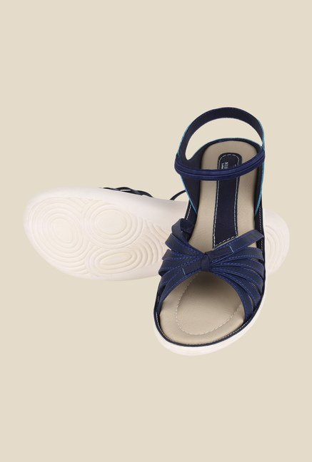 Niremo Navy Sling Back Sandals