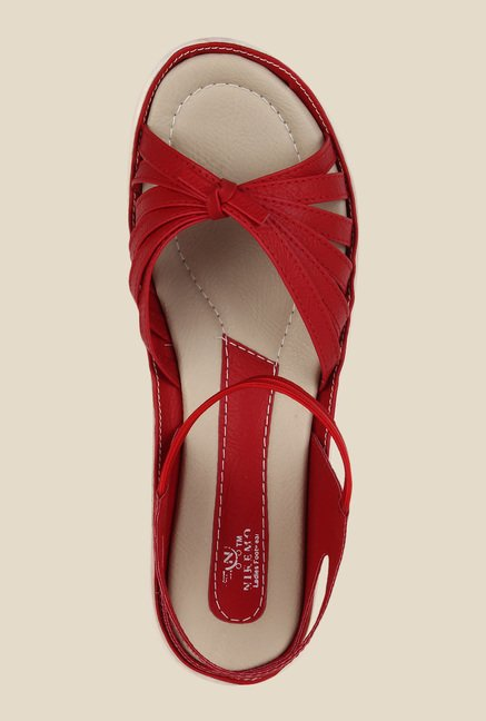 Niremo Red Sling Back Sandals
