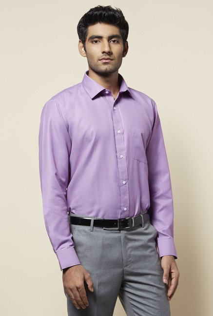 Zudio Purple Solid Shirt