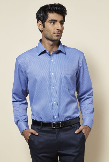 Zudio Blue Striped Shirt