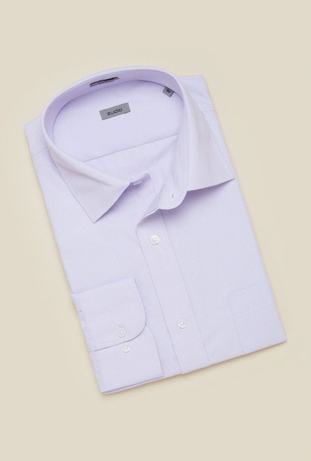 Zudio Lilac Solid Shirt