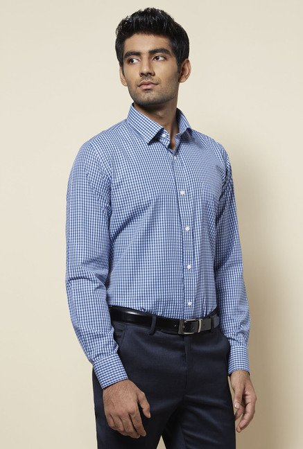 Zudio Blue Checks Shirt