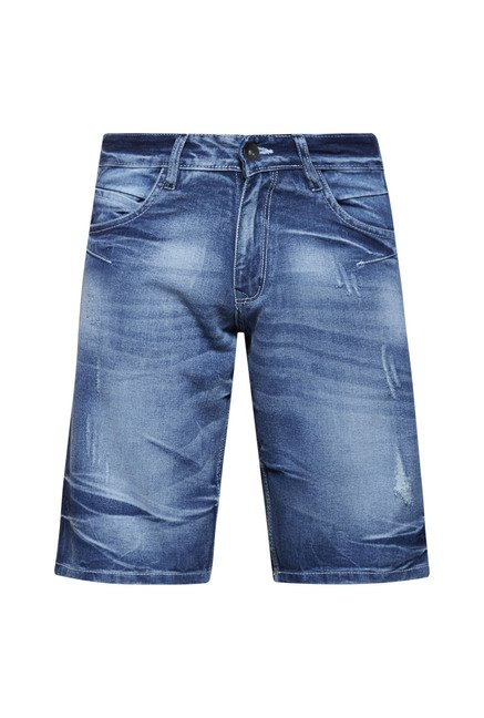 Zudio Blue Distressed Shorts