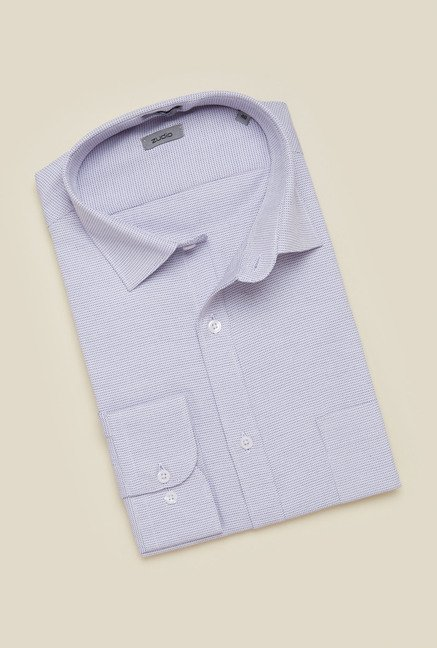 Zudio Lilac Slim Fit Shirt