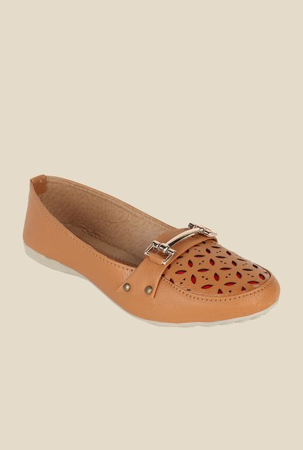 Niremo Beige Casual Loafers