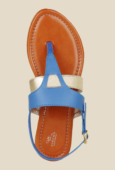 Niremo Blue Back Strap Sandals
