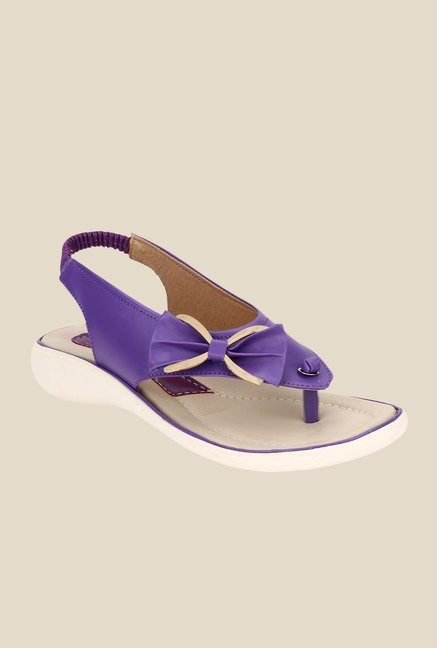 Niremo Purple Sling Back Sandals