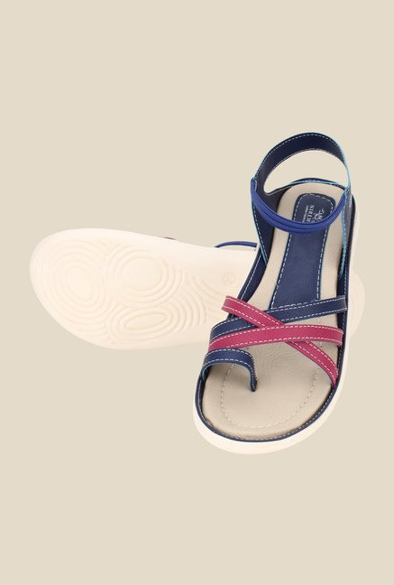 Niremo Navy & Pink Sling Back Sandals