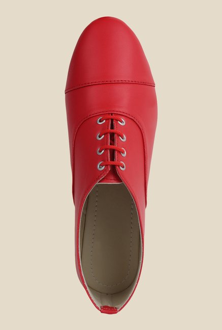 Niremo Red Oxford Shoes