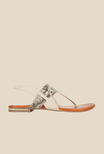 Niremo Cream Sling Back Sandals