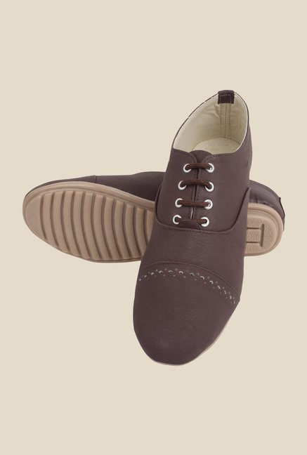 Niremo Brown Oxford Shoes