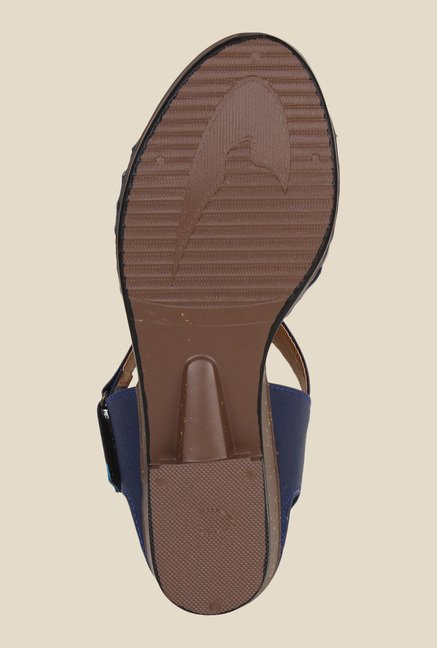 Niremo Navy Ankle Strap Wedges