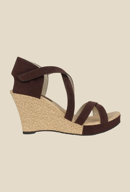 Niremo Brown Wedge Heeled Sandals