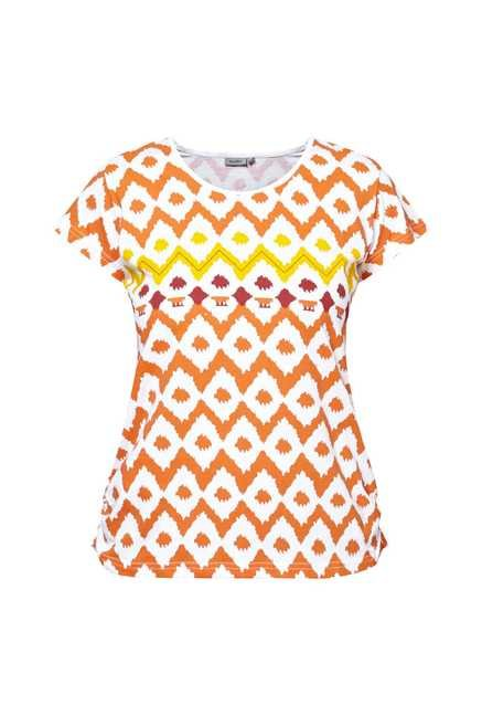 Zudio Orange Printed Top