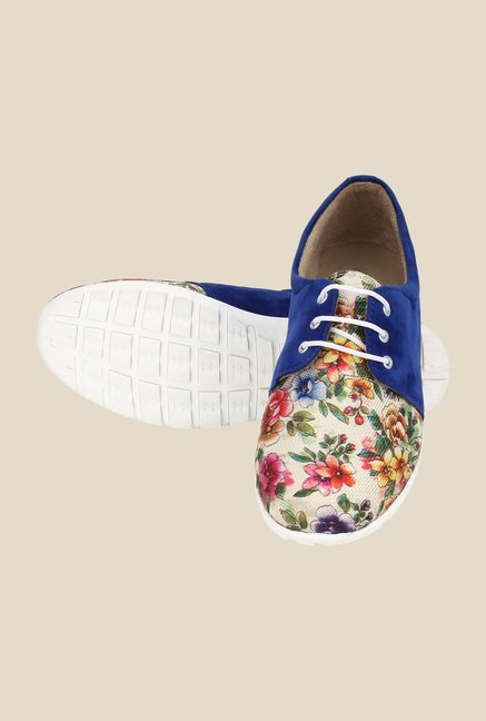Niremo Blue & White Casual Shoes
