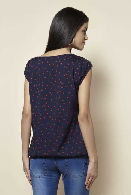 Zudio Navy Printed Blouse