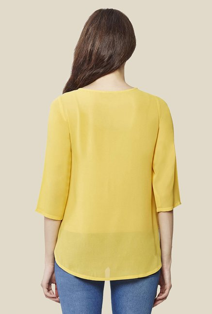 AND Mustard Solid Top