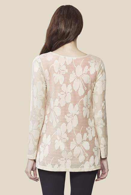 AND Cream Floral Print Top