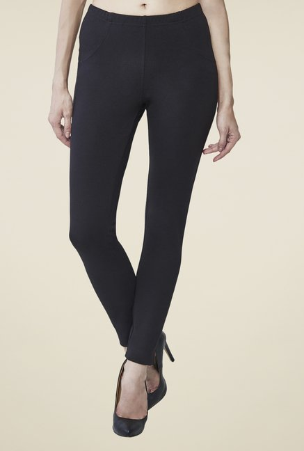 AND Black Solid Trousers