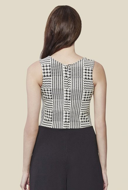 AND Black & White Printed Jumpsuit