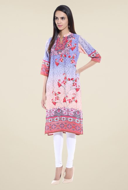 Shree Multicolor Printed Crepe Kurta
