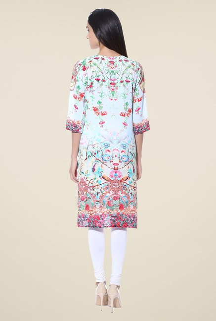 Shree Green Printed Crepe Kurta