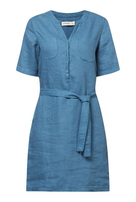 Cottonworld Solid Teal Dress