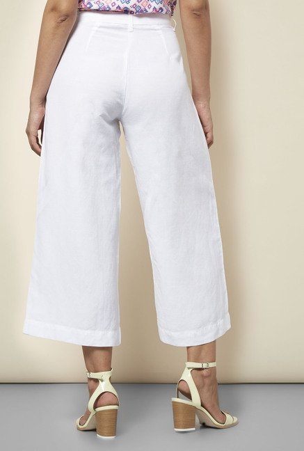 Cottonworld Solid White Culottes