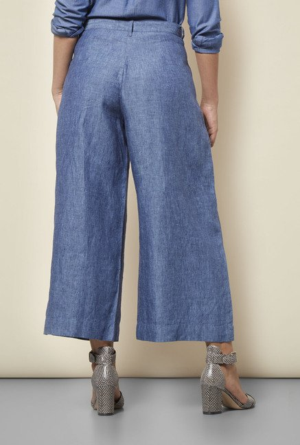 Cottonworld Solid Blue Culottes
