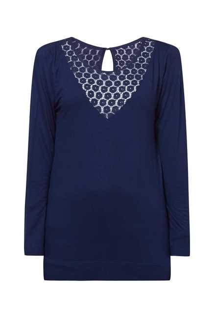 Cottonworld Solid Navy Tunic