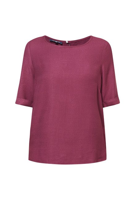 Cottonworld Solid Wine Blouse
