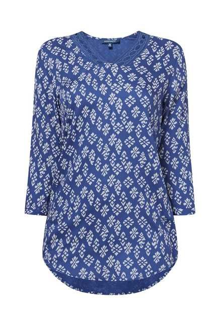 Cottonworld Printed Blue Tunic
